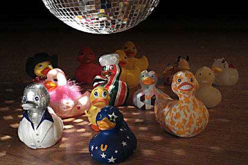 disco rubber ducks